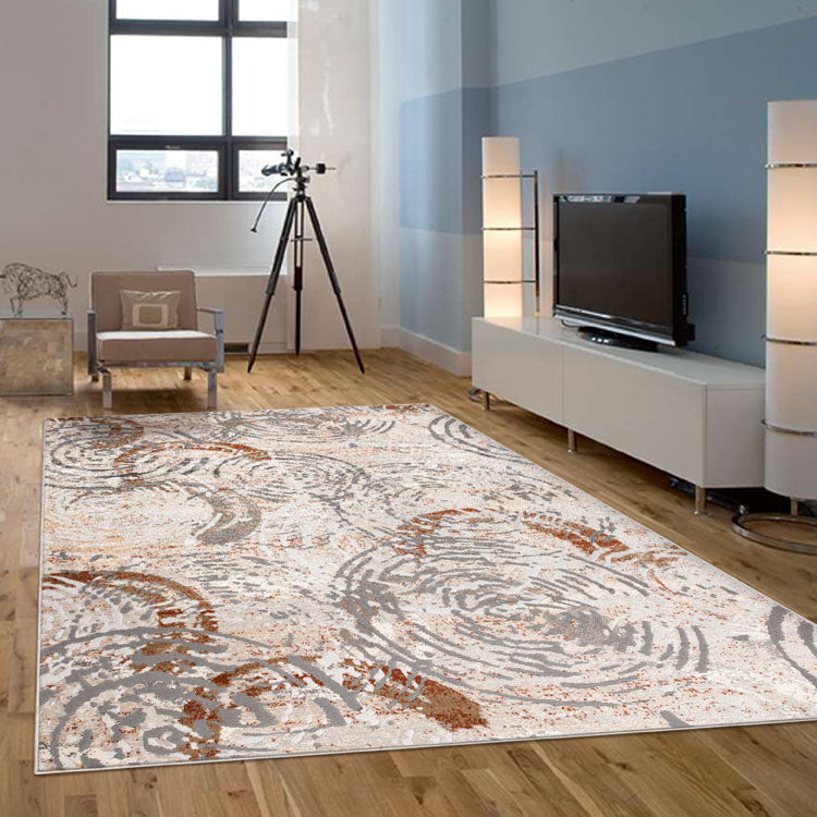 Nova 2610 Contemporary Light Grey Rug By Iconic Rugs Australia