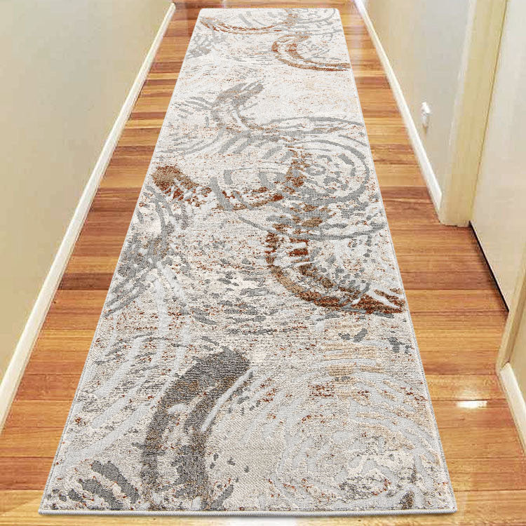 Nova 2610 Contemporary Light Grey Hallway Runner  By Iconic Rugs Australia