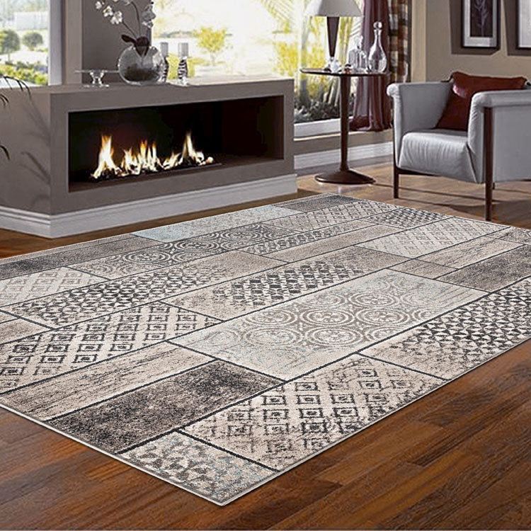 Orrisa 3152 Contemporary Squares Beige  Rug from $102