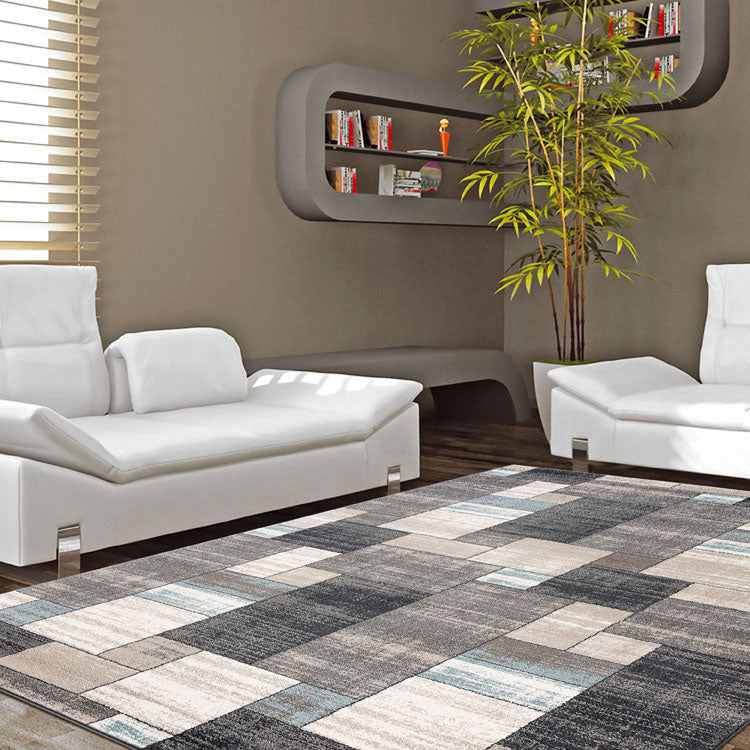 Orrisa 3163 Marble  Squares Grey   Rug from $102