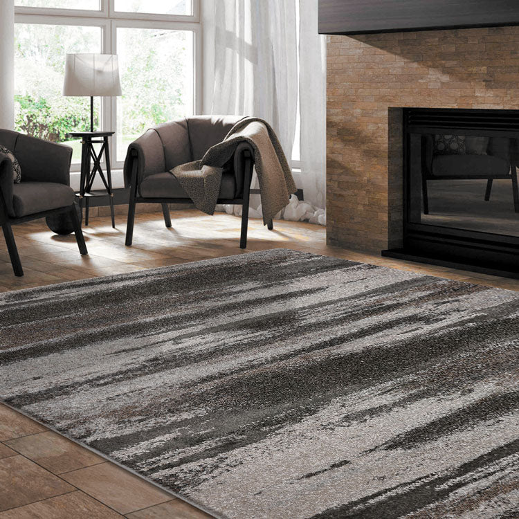 Opulence Abstract 769 Slate  Modern Rug From $99