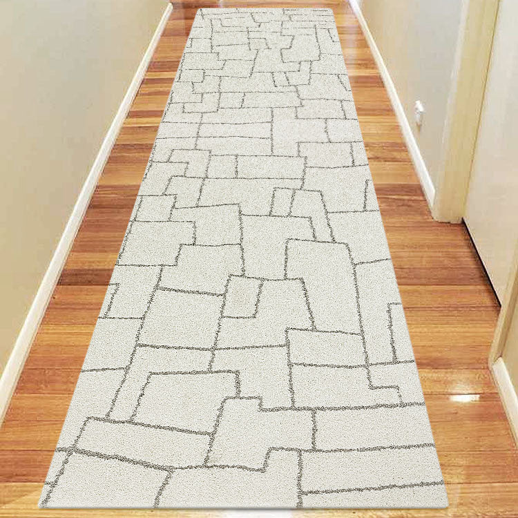 New Orlando 338 Imagination Squares  Cream  Hallway Runner