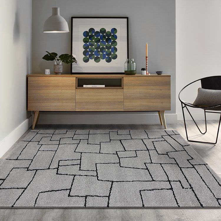 New Orlando 338 Imagination Squares  Grey Rug from $120