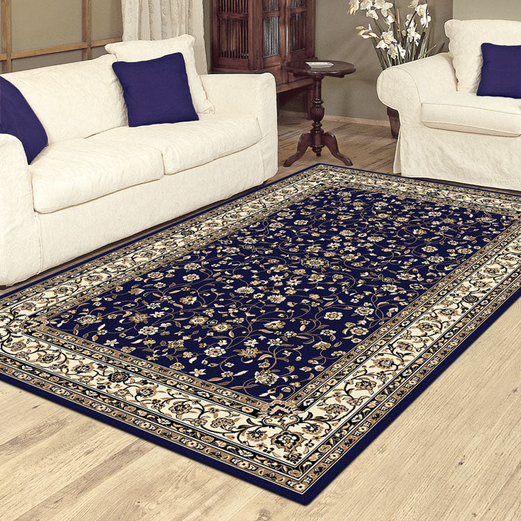 Palace 7146 Dark Blue  Traditional Persian Style  High Quality  Rugs From $99