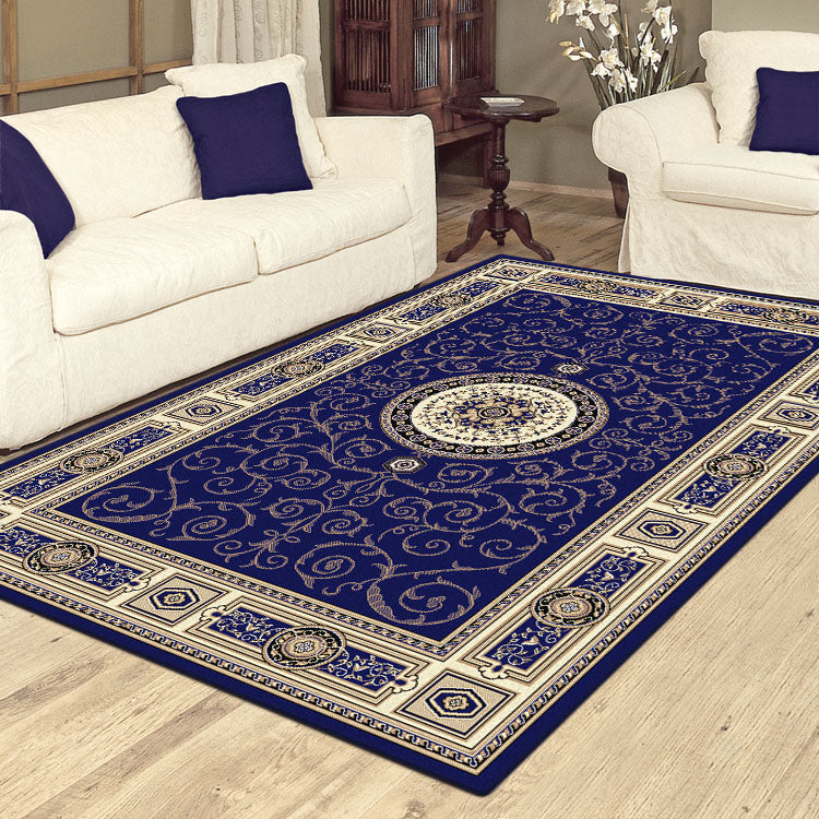 Palace 7647 Blue  Traditional Persian Style High Quality  Rugs From $99