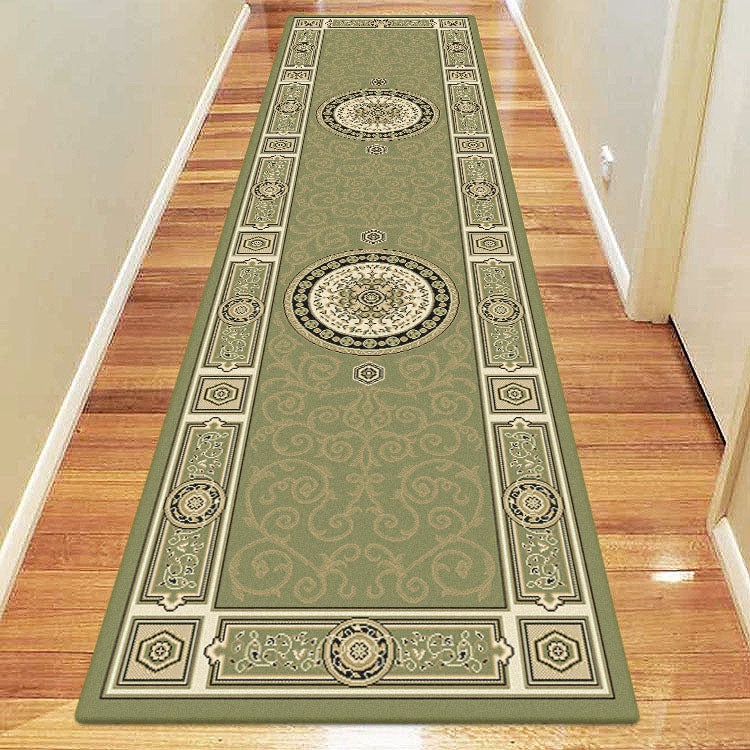 Palace 7647 Green Traditional Persian Style High Quality Hallway Runner