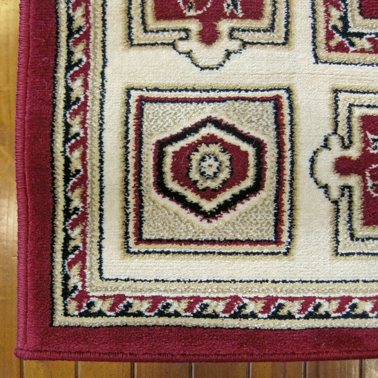 Palace 7647 Red  Traditional Persian Style High Quality  Hallway Runner