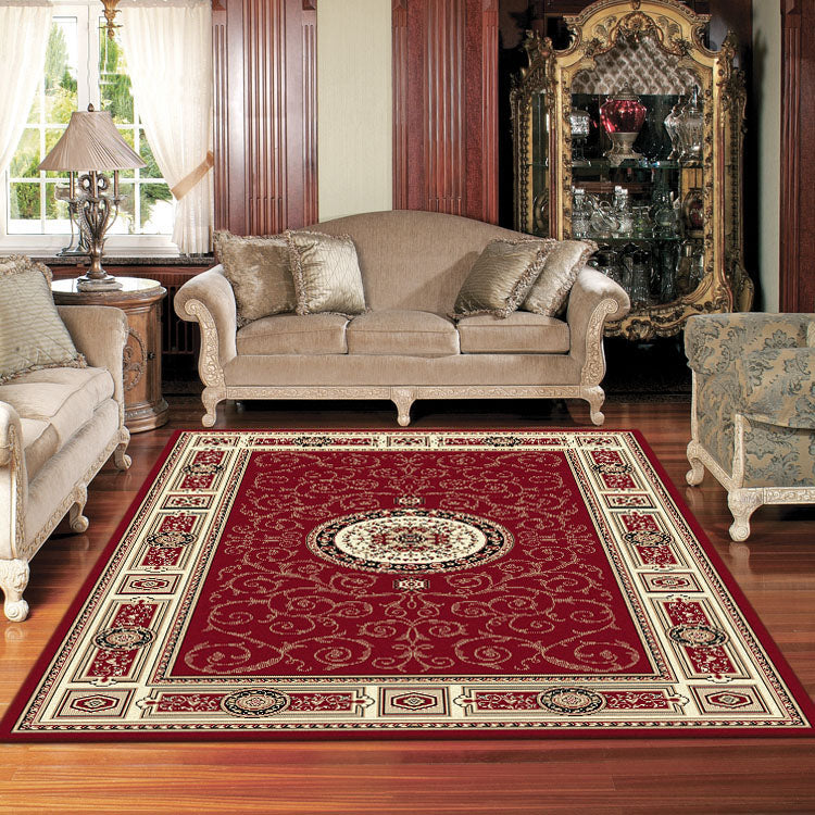 Palace 7647 Red  Traditional Persian Style High Quality  Rugs From $99