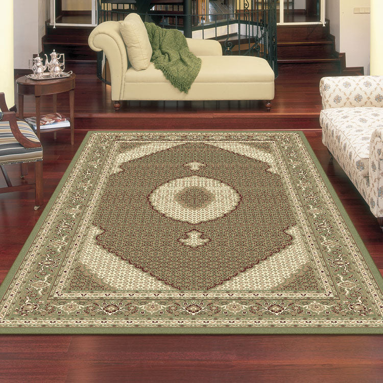 Palace 7650 Light Green Persian Style  Rug From $125