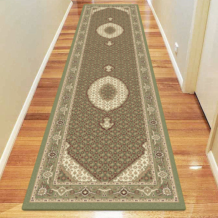 Palace 7650 Light Green Persian Style Hallway Runner