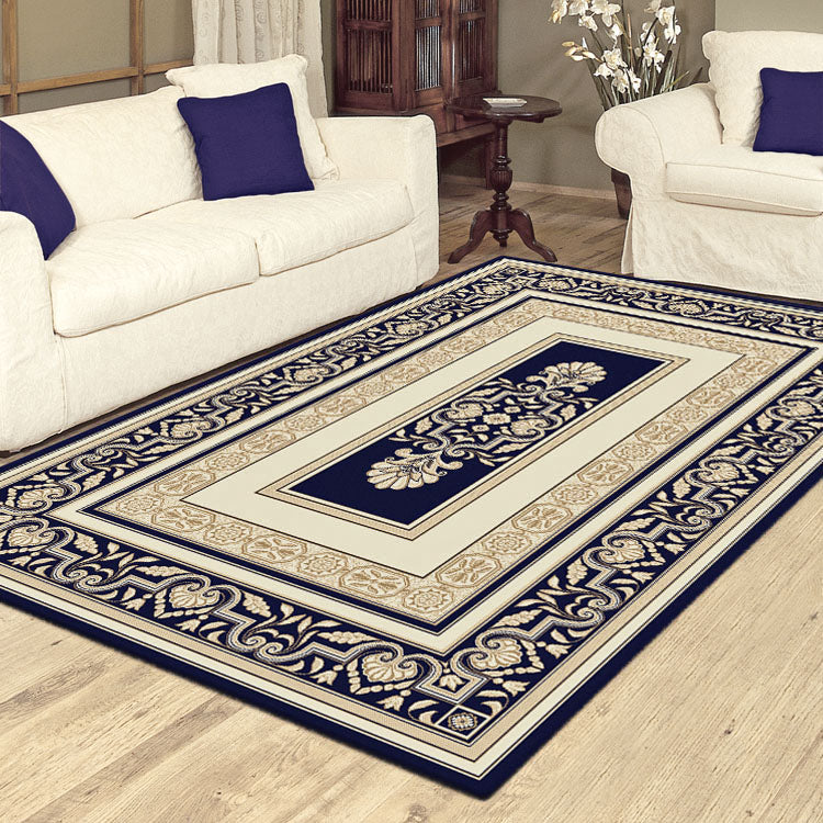 Palace 7652 Blue Cream  Traditional Persian Style High Quality Rug