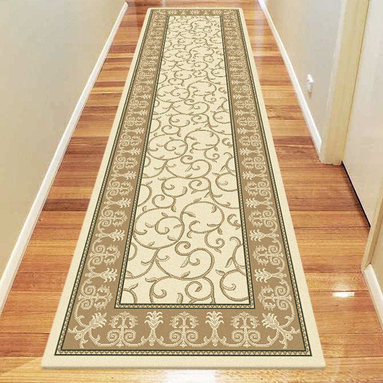 Palace 7653 Floral Cream  Bordered Persian Style Hallway Runner