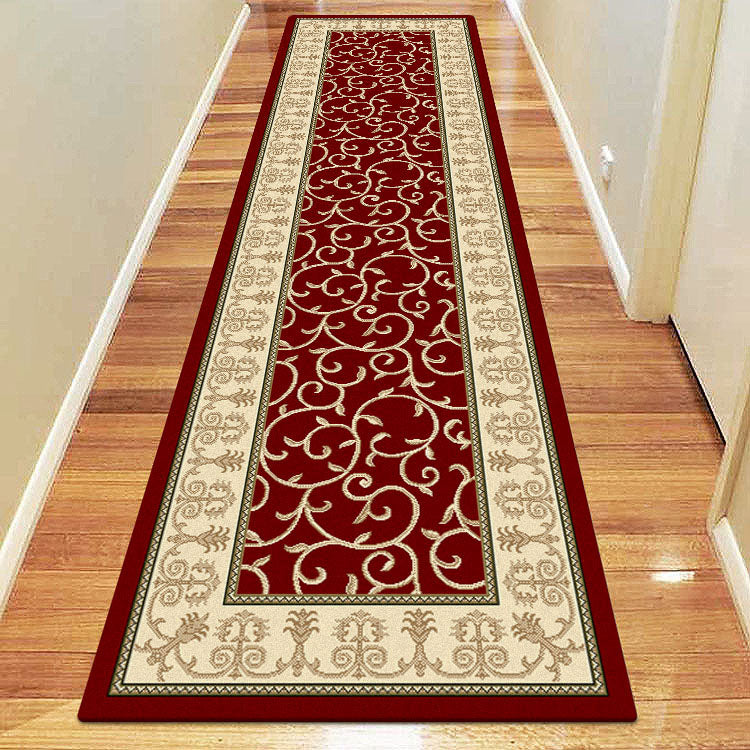 Palace 7653 Floral  Red   Bordered Persian Style Hallway Runner
