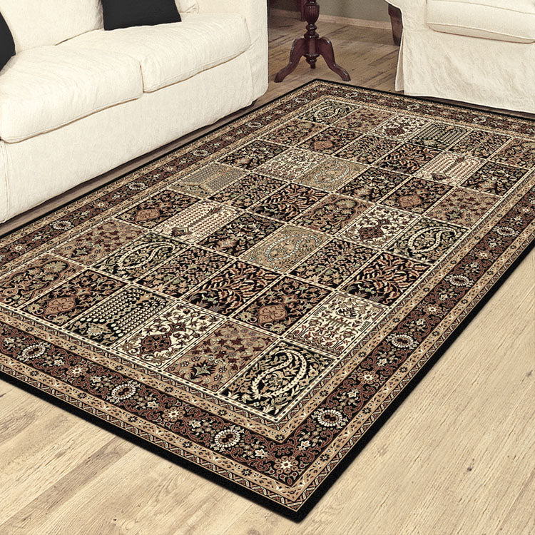 Palace 7654  Tribal Black   Persian Style High Quality Rug