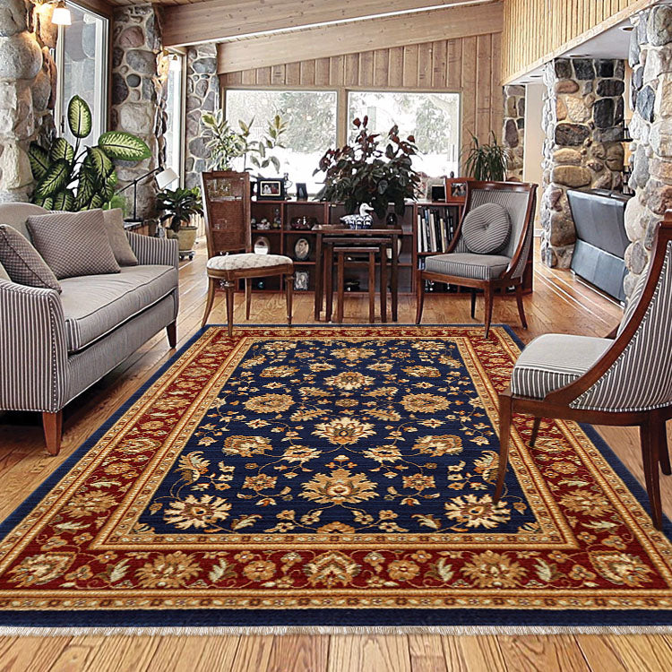 Persian 1259 Oriental  Navy Blue Rug From $129