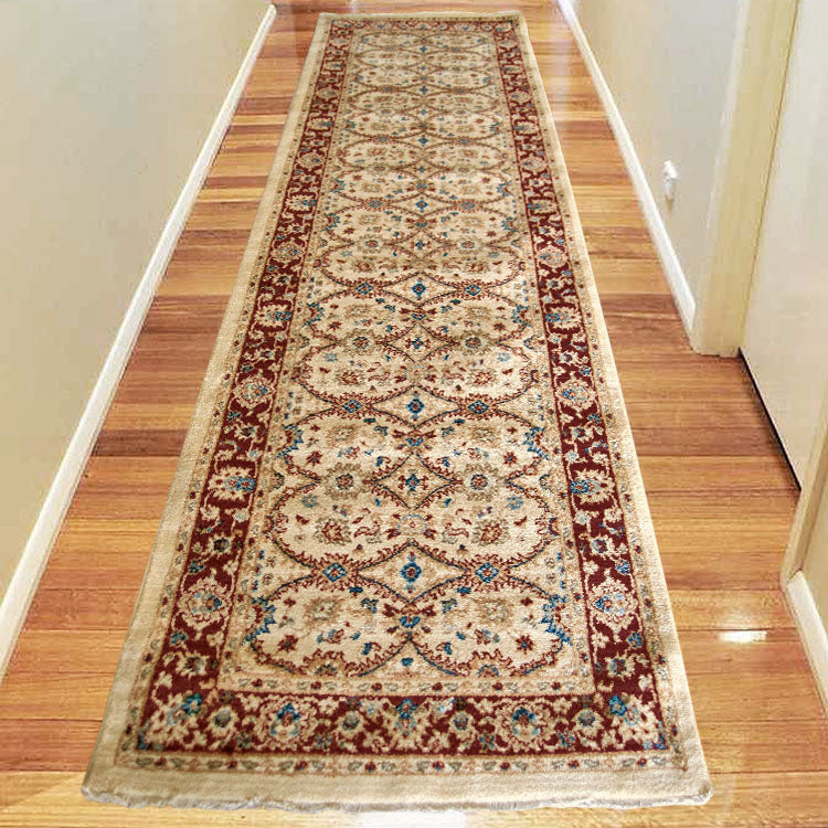 Persian 1270 Ivory Red Bordered Hallway Runner