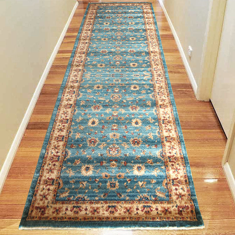 Persian 1271 Olden Blue Framed Hallway Runner