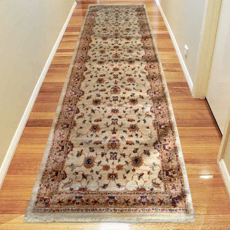 Persian 1271 Ivory  Framed Hallway Runner