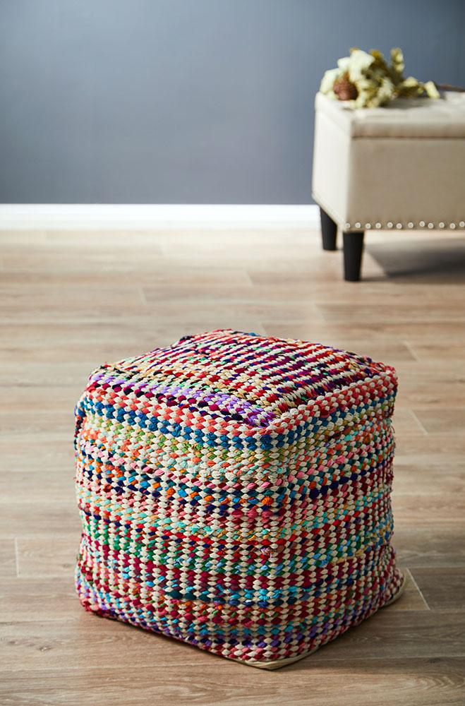 Rug Culture Home 513 Multi Ottoman