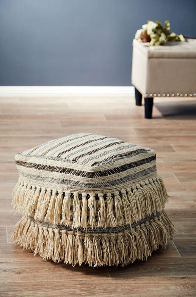 Rug Culture Home 517 Natural Ottoman