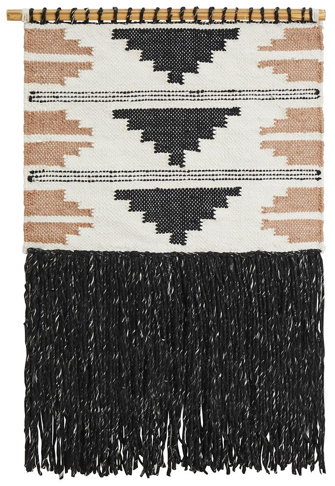 Iconic Rugs Australia  Hand Made Charcoal Wall Hanging