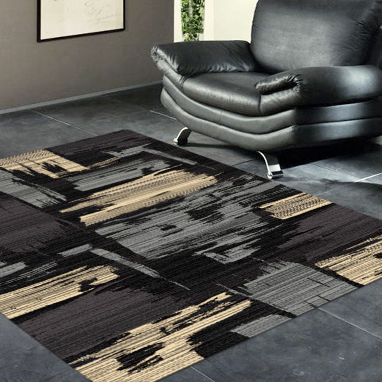 Abstract Ruby collection 2120 Black/Brown/Red rug from $79
