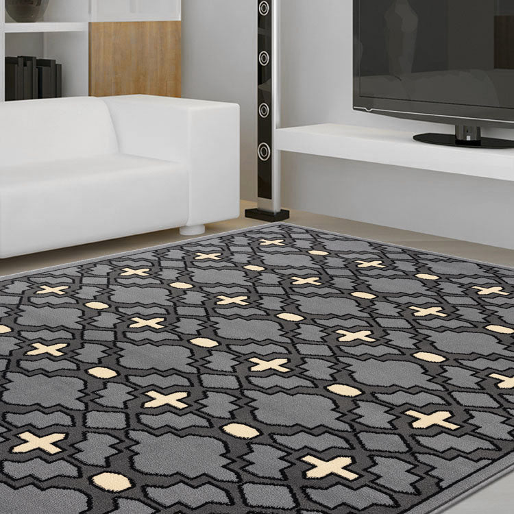 Ruby2520 Grey Diamond pattern rug From $79