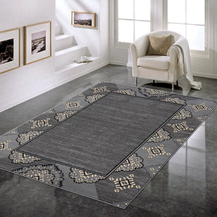 Ruby2698 Grey Border Budget  Rug From $79