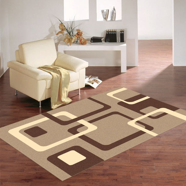 Ruby 6567 Square Pattern   Cheap Rug from $79