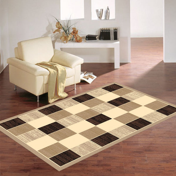 Ruby 6570 Imagination Square Pattern Cheap Rug from $79