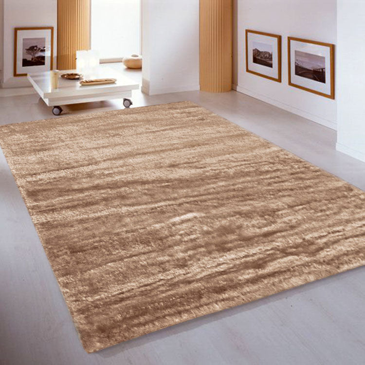Soft-Silk Capppuccino  1001 High Quality Shaggy Rugs Collection