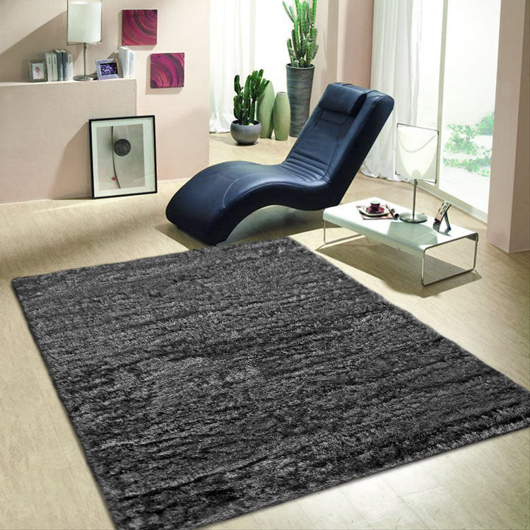 Soft-Silk Dark Grey  1001 High Quality Shaggy Rugs Collection