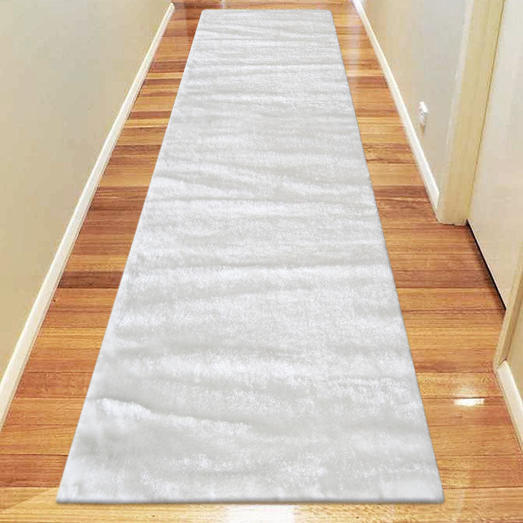 Soft-Silk white  1001 High Quality Shaggy Hallway Runner