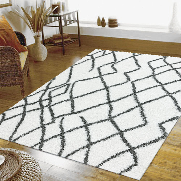 Moroccan Diamond  Sorento 0346 Cream shaggy Rugs