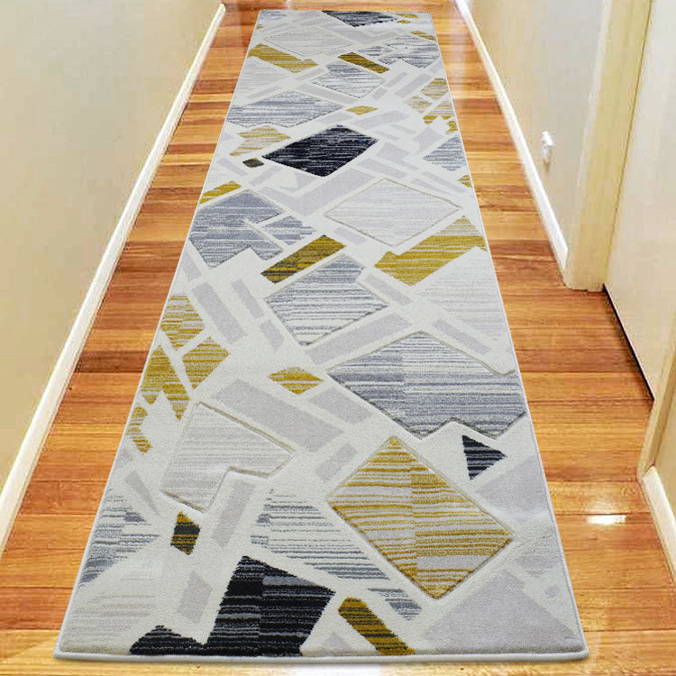 Sungate 1059 Gold/Grey Hallway Runner by Iconic Rugs Australia