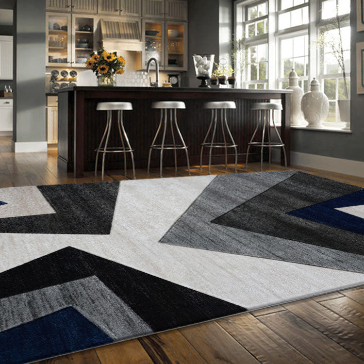 Sungate 2095 Grey Geo  Rug By Iconic Rugs Australia