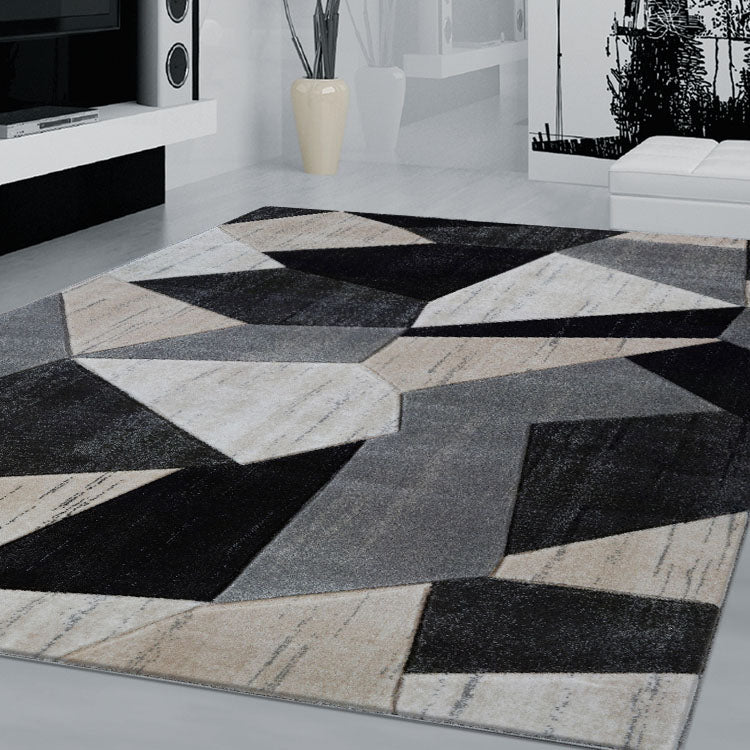 Sungate 2102  Grey Geo  Rug By Iconic Rugs Australia