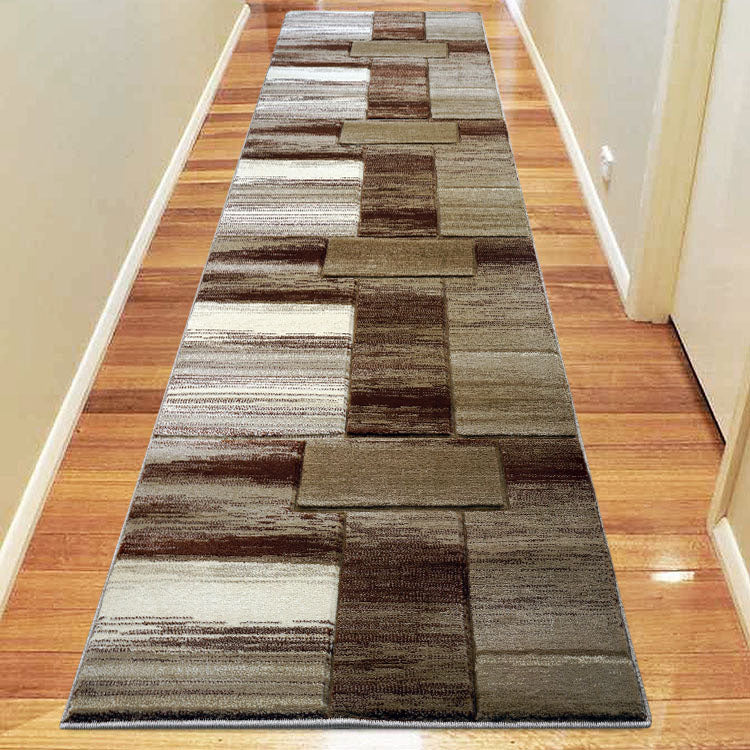 Sungate 0816 Beige/Gold/Grey  Hallway Runner by Iconic Rugs Australia