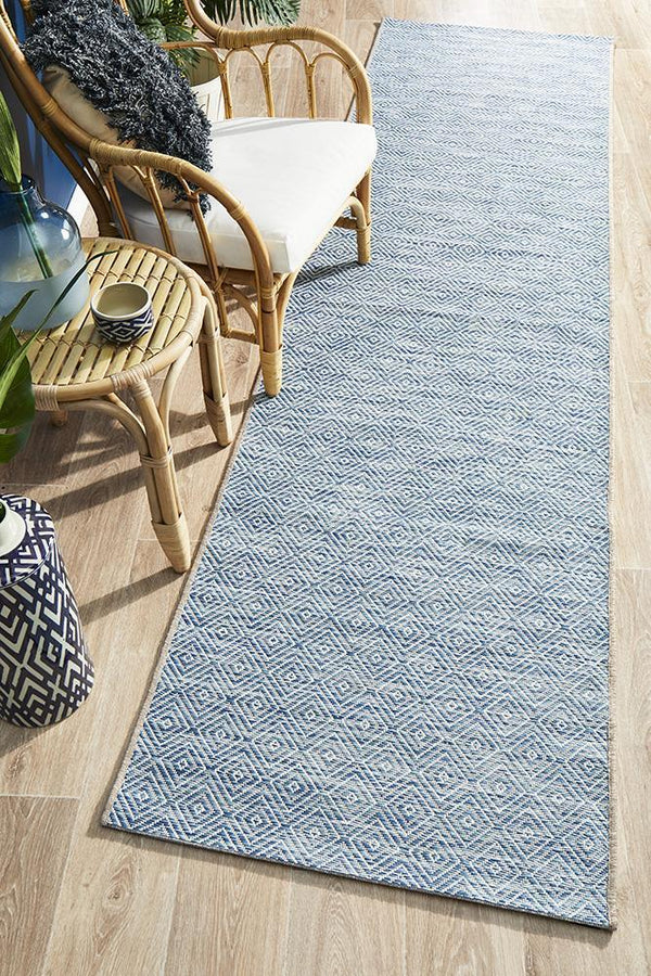 Indoor Outdoor Rug Culture Terrace 5500 Blue Runner Rug