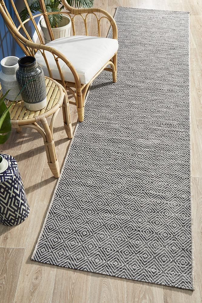 Indoor-Outdoor Terrace Modern Grey Runner