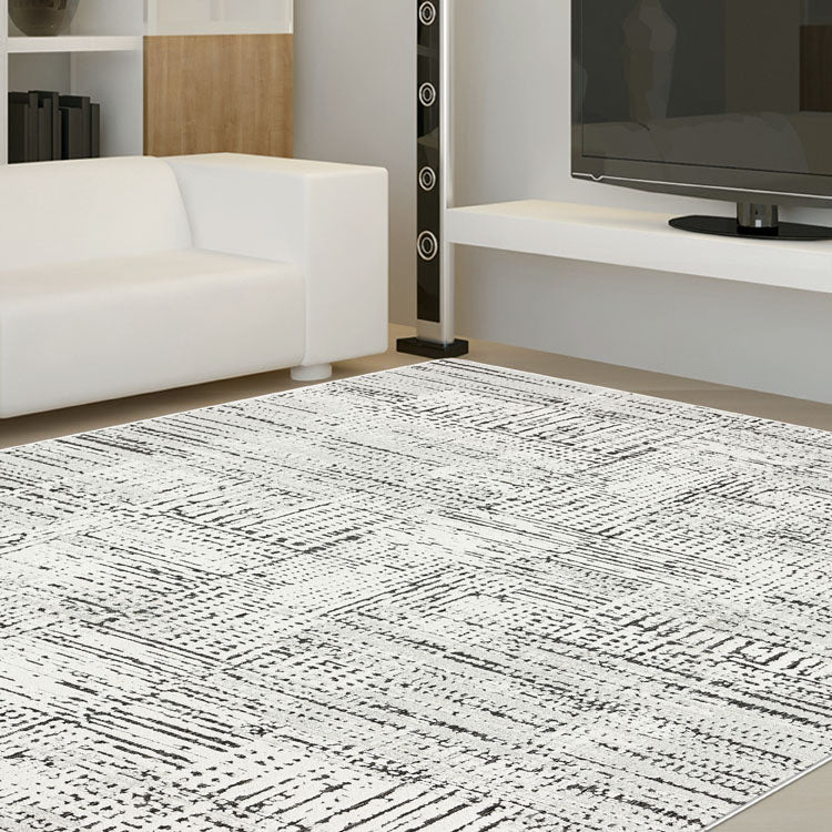Indoor outdoor Contemporary Lt Grey Rug