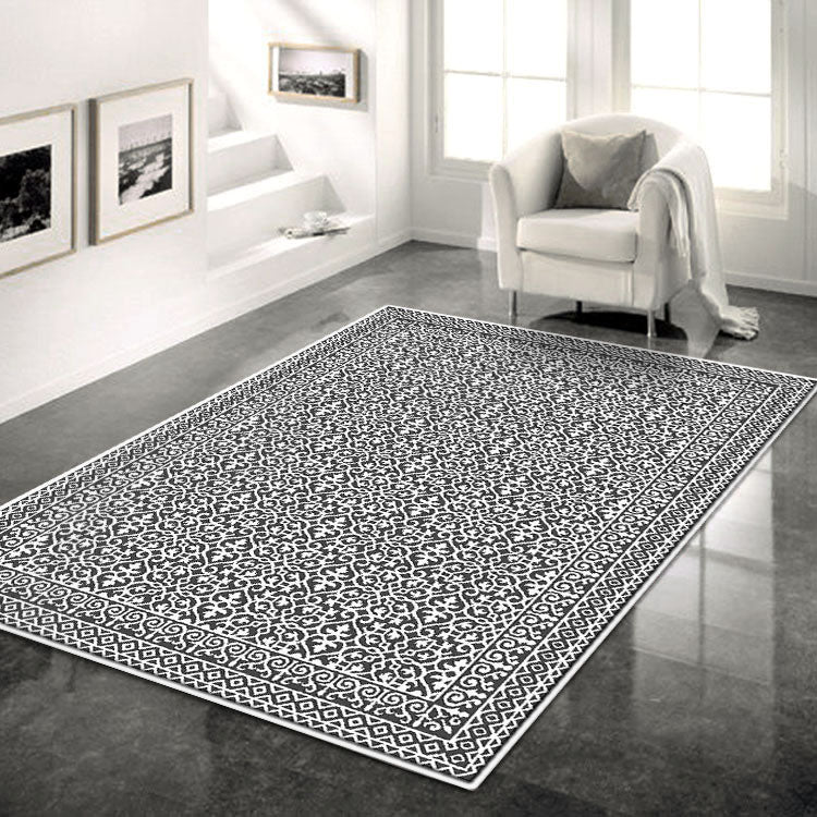Indoor outdoor Bordered   Grey Rug