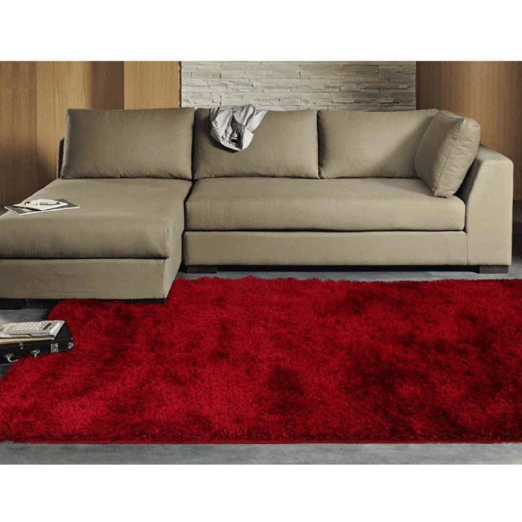 Twilight Soft and Plush Shag Rug - Red 165x115cm