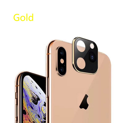 100pcs For iPhone X XS MAX XR Seconds Change 11 PRO for iPhone 11Pro MAX Lens Sticker Modified Camera Cover Titanium Alloy 10