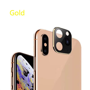 100pcs Luxury Metal Alumium Camera Lens Seconds Change For iPhone11 iPhone X XS MAX Camera Protective Cover