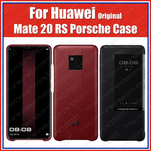 Sync official 100% Original Mate 20 RS Case Genuine leather Smart View Flip Cover For HUAWEI Mate20 RS Case Porsche Design
