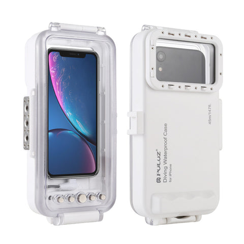 Waterproof Phone Case Diving Housing Photo Video Taking Underwater Case for iPhone 11/XR/X/XS/8/7/6S/SE iOS 13.0 or Above 45m
