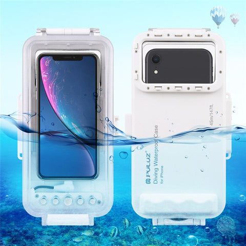 45m Waterproof Phone Case Diving Housing Photo Video Taking Underwater Case for iPhone 11/XR/X/XS/8/7/6S/SE iOS 13.0 or Above