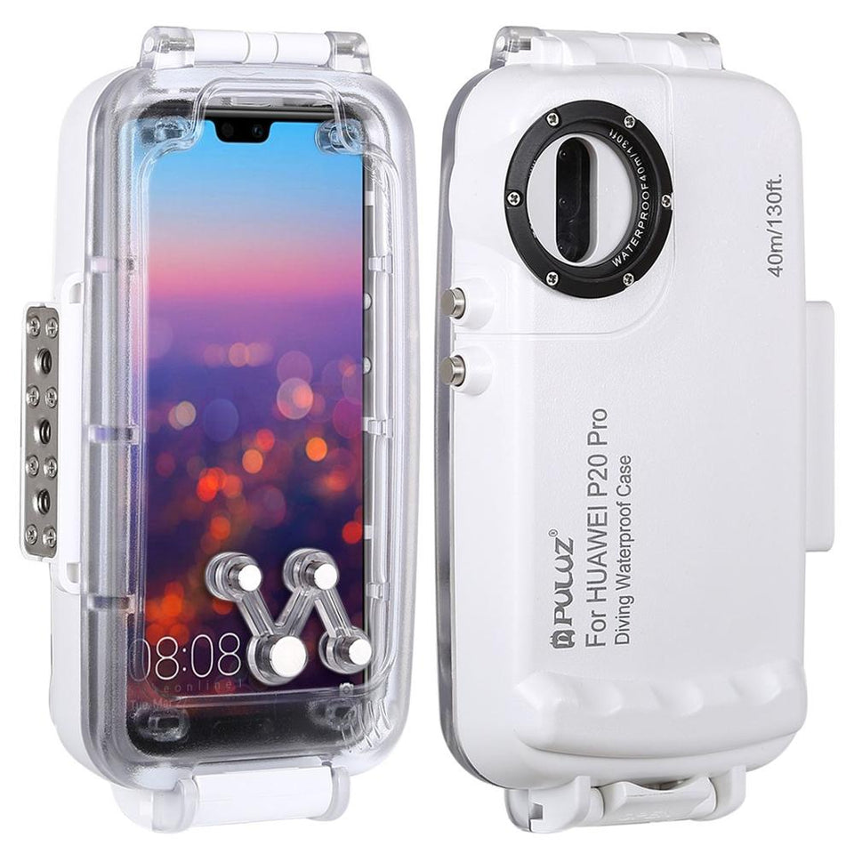 Case For Huawei P20 / P20 Pro / Mate 20 Pro Cover Underwater Waterproof Housing Diving Protective Bag Swimming Photo Video