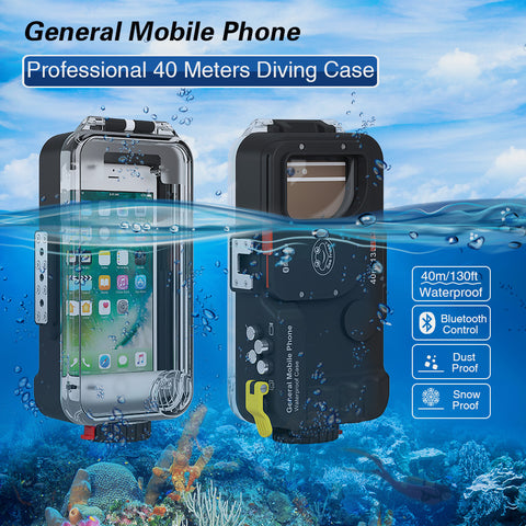 Bluetooth Universal Waterproof Phone house case For iphone huawei xiaomi samsung nokia LG SONY ZTE Diving Cover Underwater bag